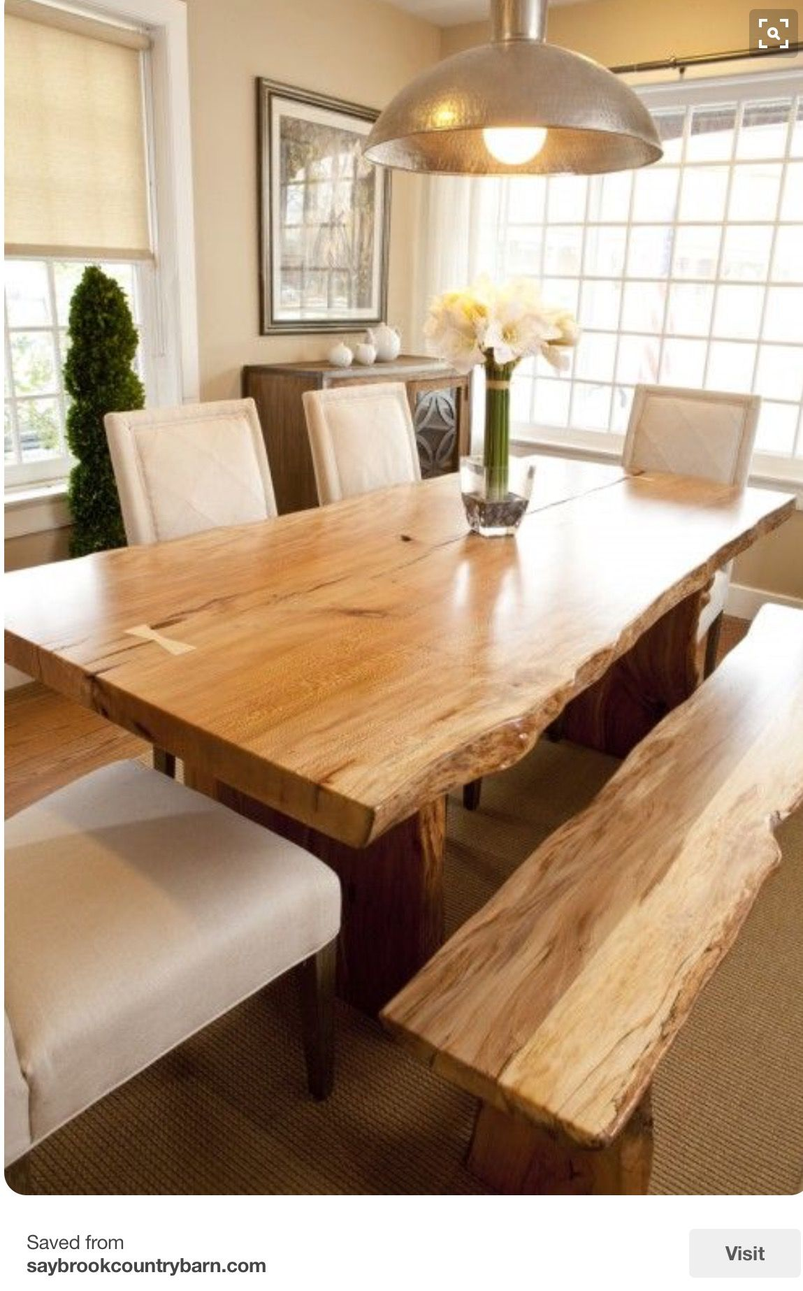 Modern rustic dining room table  Pin by rodi tzani on Design ideas  Pinterest  Tables Room and