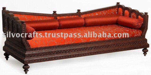 Royal Indian Rajasthani Jodhpur Hand Carved Teak Wooden Sofa Diwan Wooden Sofa Carved Sofa Sofa Design