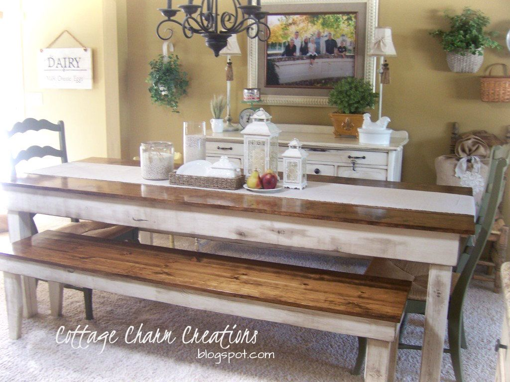 Farm Style Kitchen Table Cottage Furniture To Seat 10 Charm Farmhouse Collection
