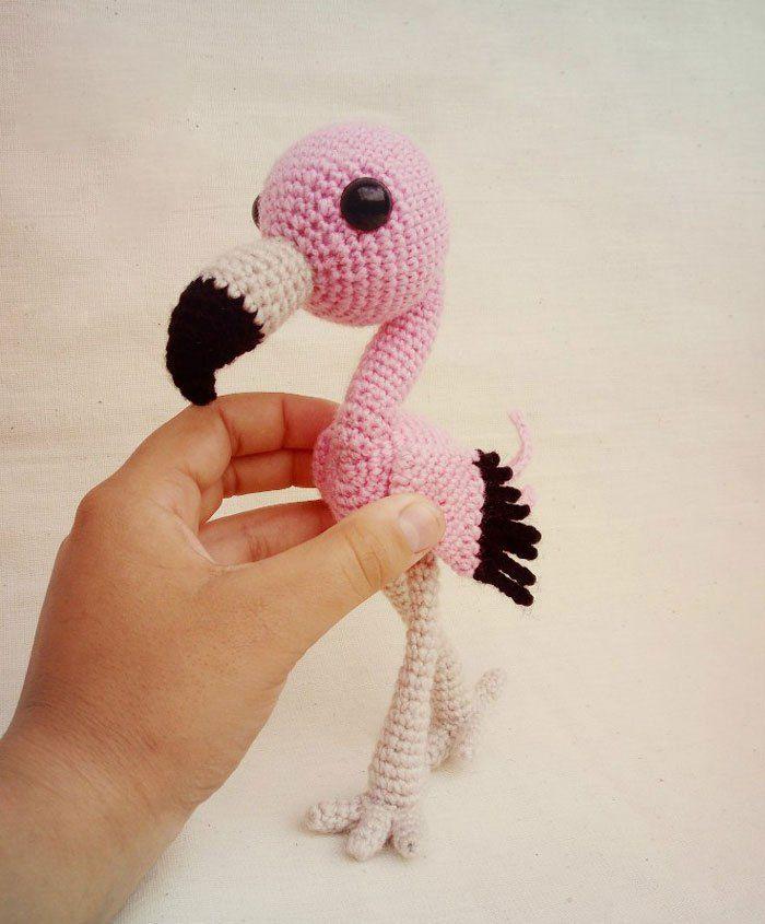 bebé libre de flamenco patrón de amigurumi | Pulseras, crochet ...