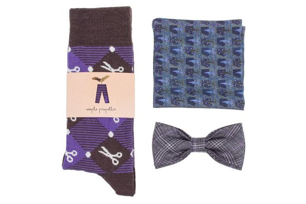 Perfect gift for stylish  boyfriend. Mens Socks – GIFT BOX Matching gift set for men wool dress sock – a unique product by MaplePropeller via en.DaWanda.com