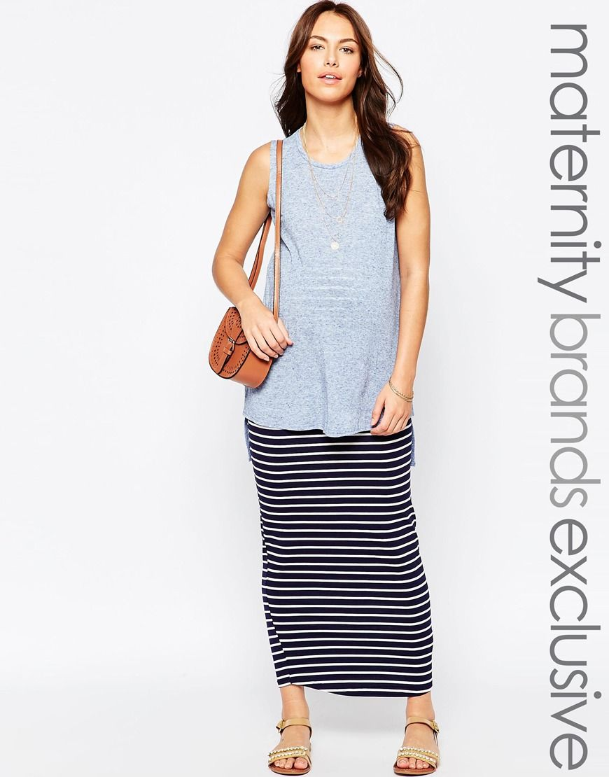 Image 1 of new look maternity striped maxi skirt maternity image 1 of new look maternity striped maxi skirt maternity clothingmaternity ombrellifo Gallery