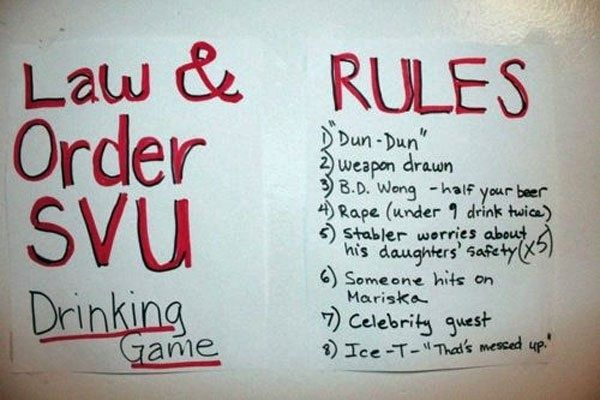 Law and Order: SVU Drinking Game