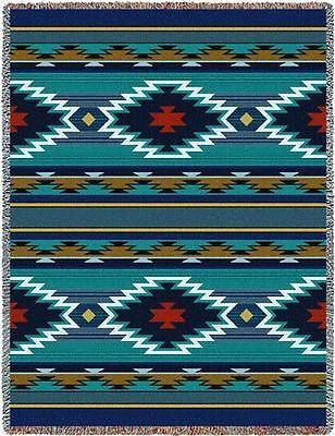 Southwestern Throw Blanket 70X53 Balpinar Southwest Throw Blanket  Blue Tapestry Afghans And