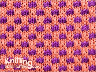 Loom Knitting With Two Colors : Check stitch simple slip pattern and easy to knit in two