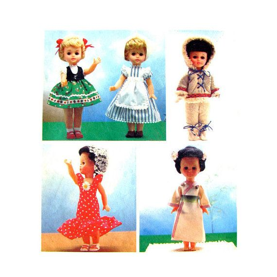 Vintage Doll Clothes Sewing Pattern Style by finickypatternshop