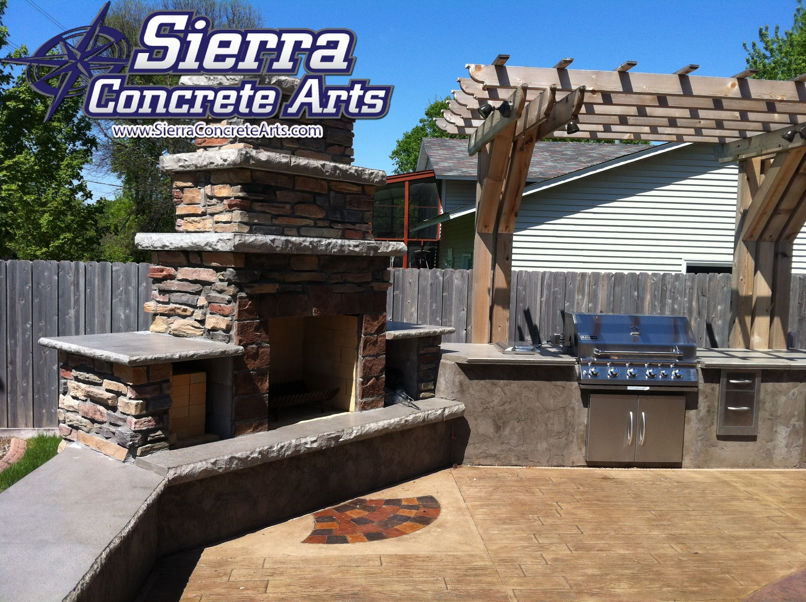 A great place to enjoy a family dinner outdoor kitchen built in