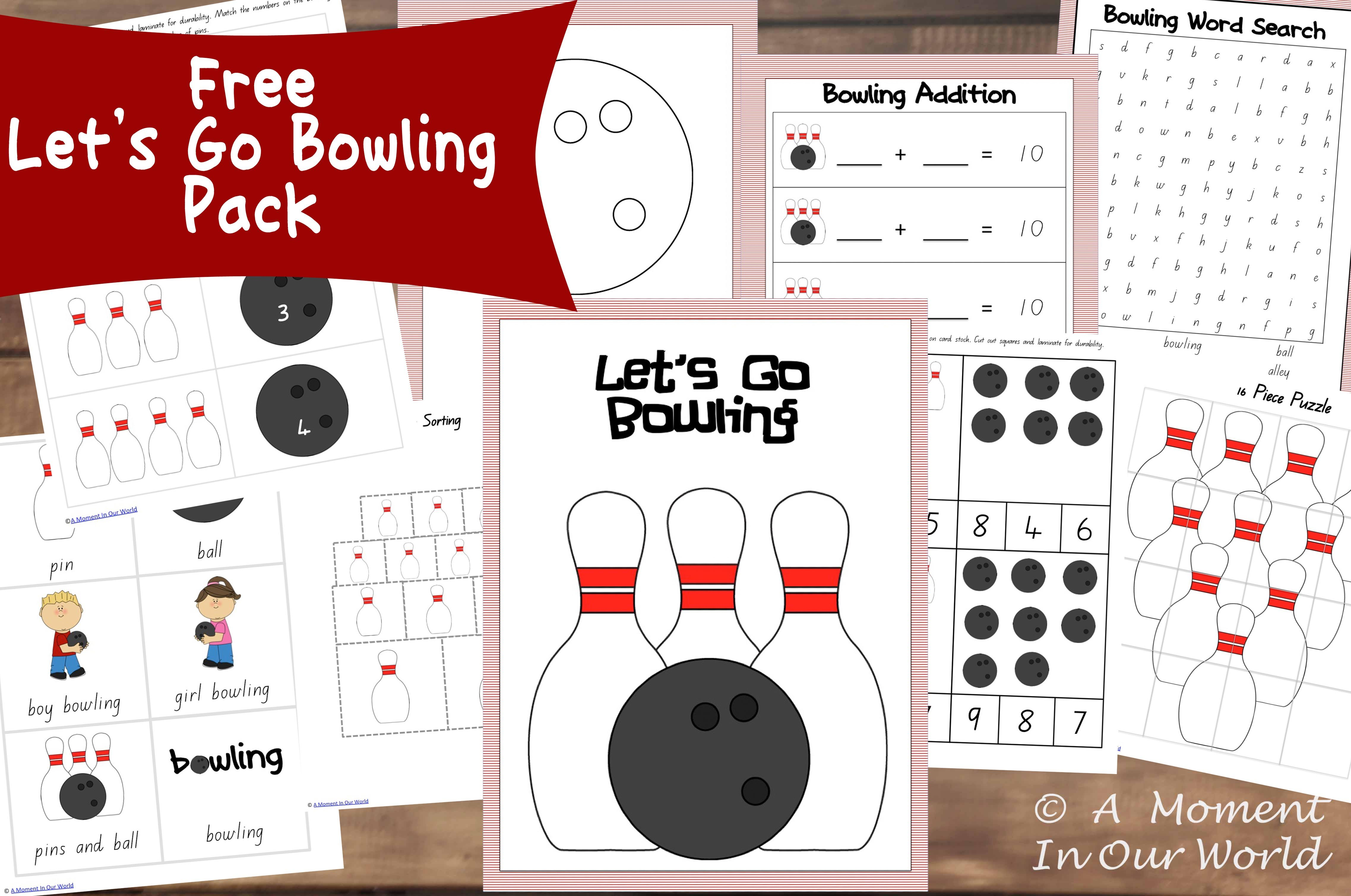 13 Days Of Learning Printables Let S Go Bowling