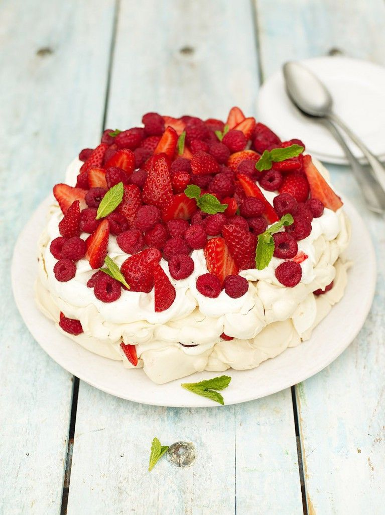 Summer Berry Pavlova Fruit Recipes Jamie Oliver