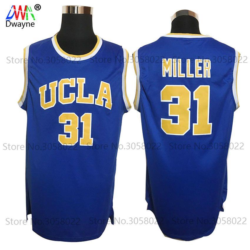 7fd31b7846e 2017 Men Dwayne Cheap Throwback Basketball Jersey Reggie Miller Jersey #31  UCLA All Atitched College