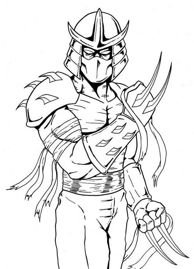 tmnt coloring pages shredder machine - photo#6