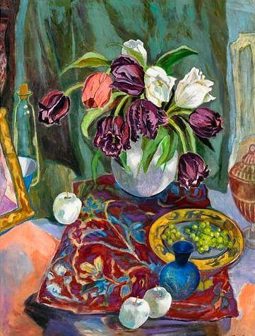 Joanne Clarke, Tulips and Porcelain Apples  2010