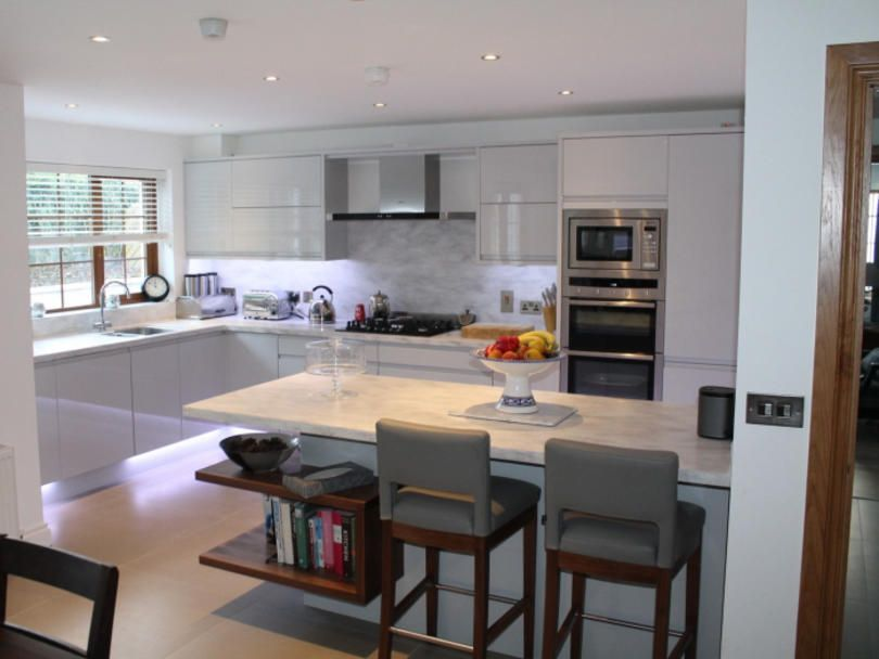 contemporary kitchen by fearon bros in newry remo dove grey doors