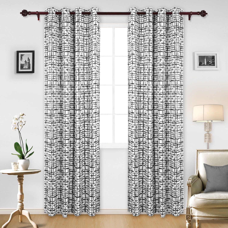 Amazon deconovo home decorative print curtains thermal
