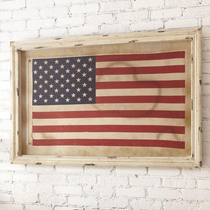 Birch lane american flag framed wall art birch lane