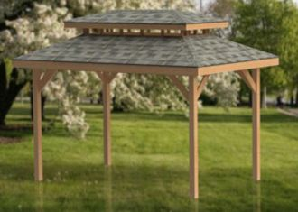 Double Hip Roof Gazebo Plans Perfect For Hot Tubs 10 X 16