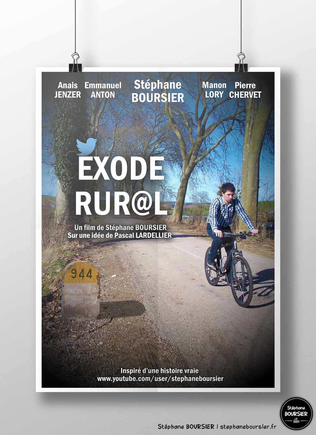 Affiche et jaquette du court-métrage - Exode Rural