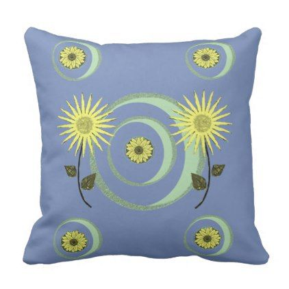 Throw Pillow Sunflower | Zazzle.com #sunflowerbedroomideas