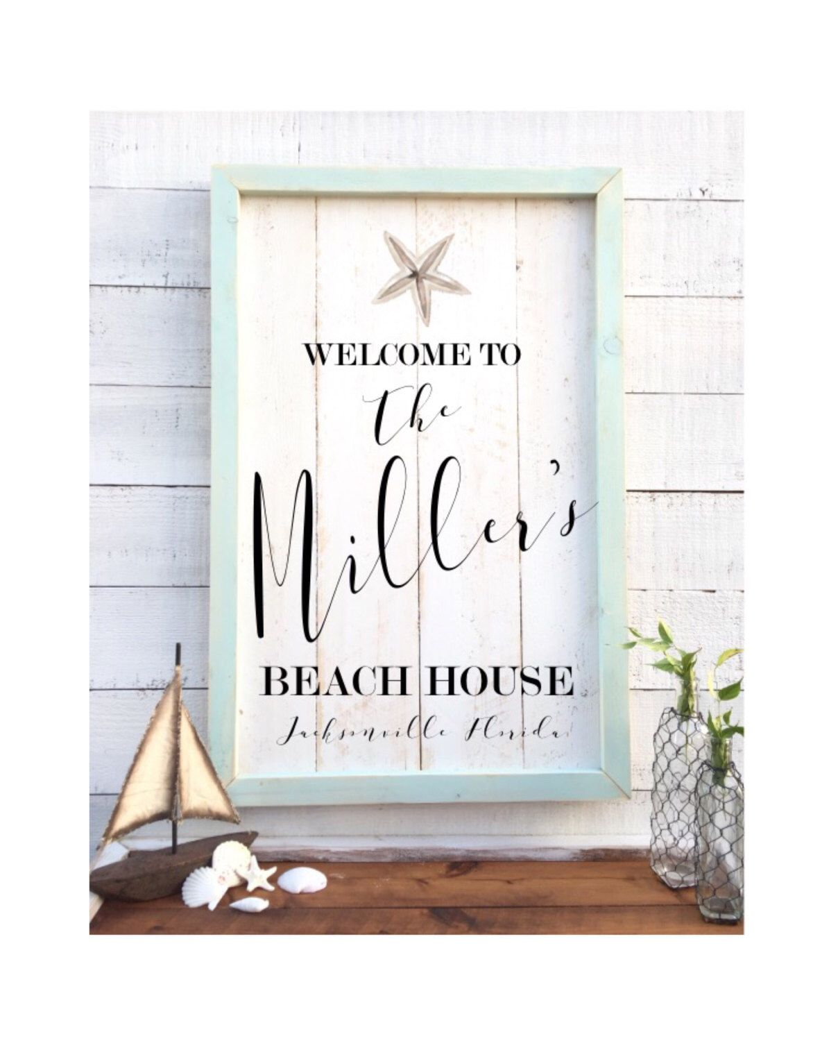Shabby Chic Beach House Sign Vintage Home Decor By Brushandtwine On Etsy Https