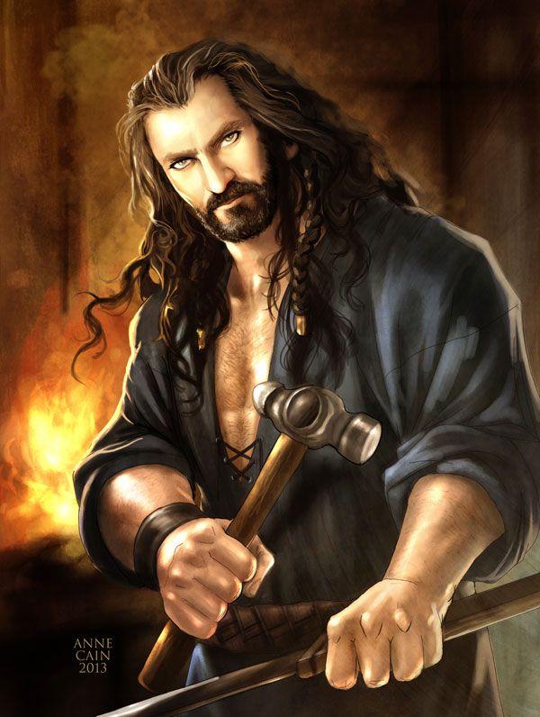The Hobbit: Metalsmith Thorin by ~annecain on deviantART