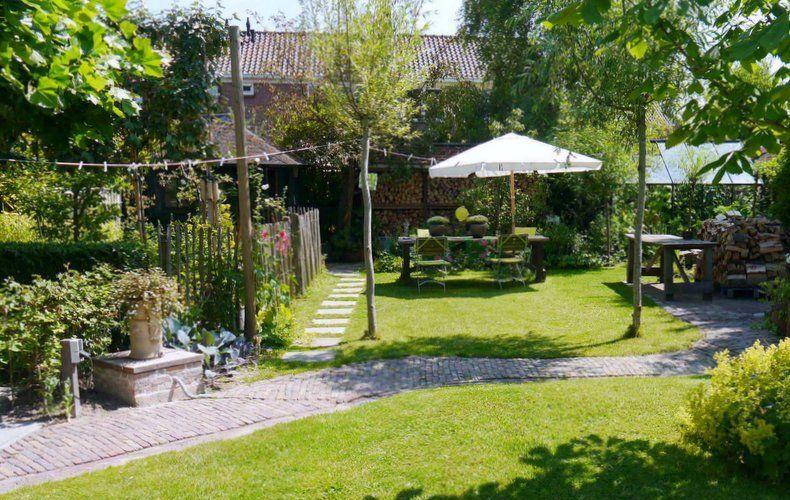 Romantische tuin outdoor pinterest tuin stadstuinen for Eenvoudige tuinontwerpen
