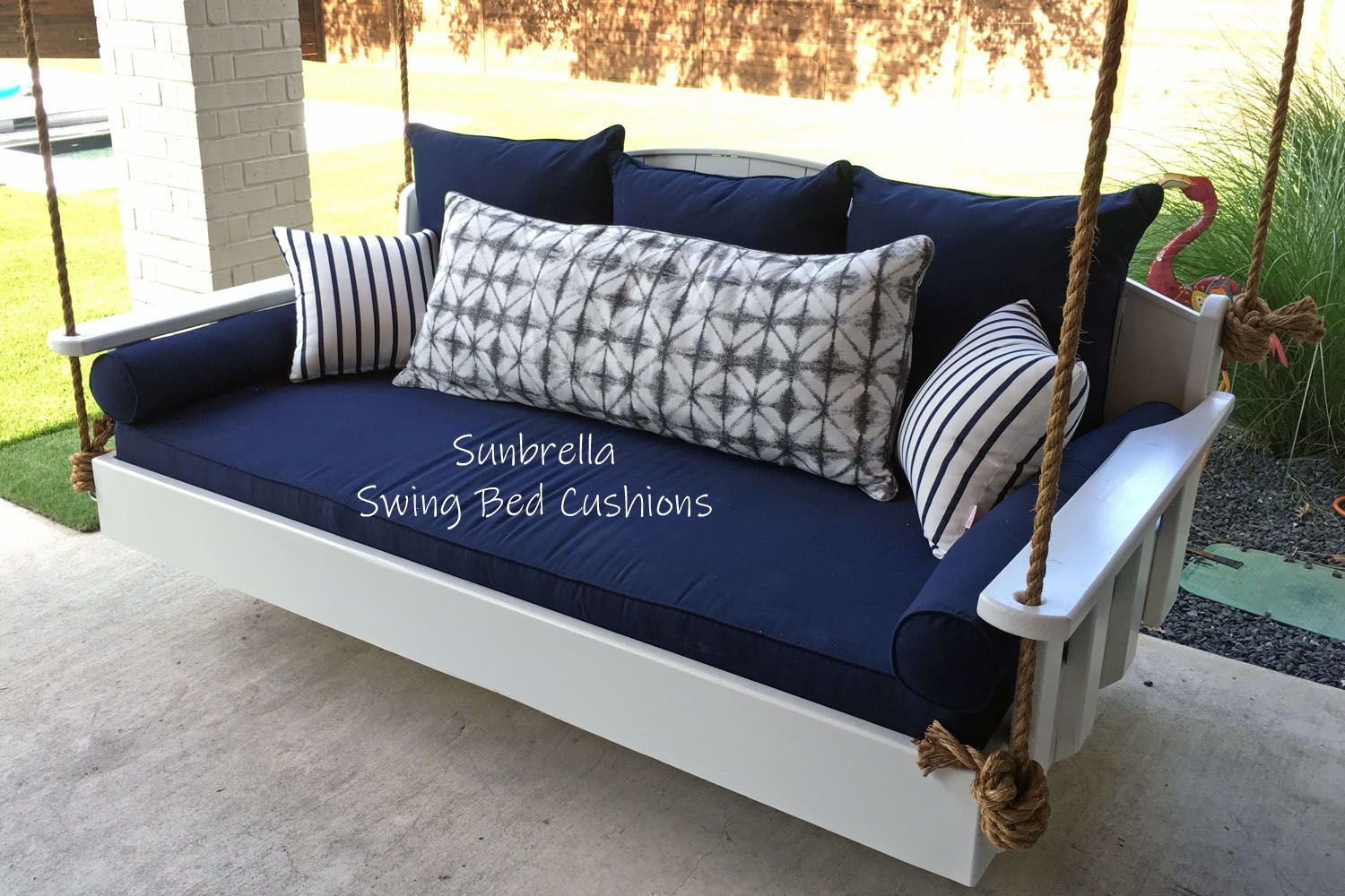 Sunbrella Outdoor Daybed Cushion Set Bolsters Back Pillows