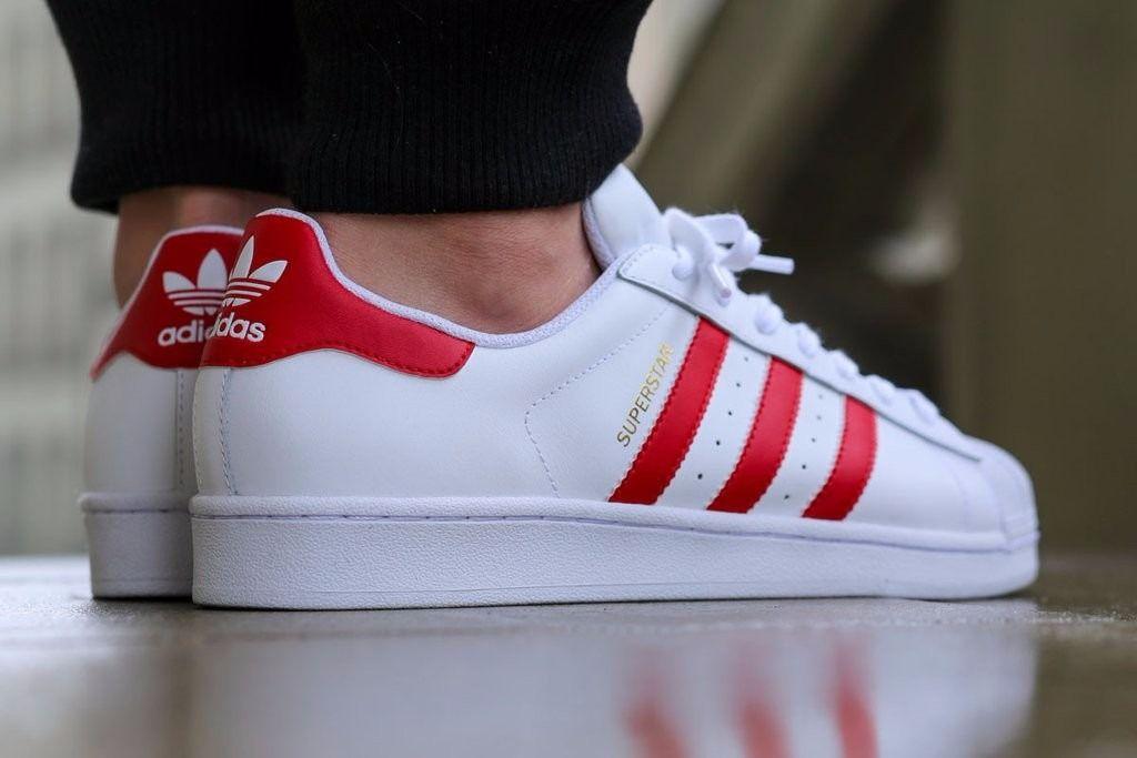 Resultado de imagen para superstar blanco y rojo | Adidas ...