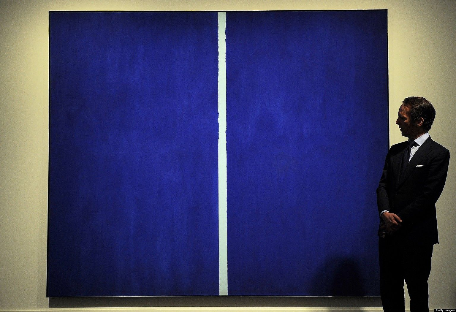 Onement VI by Barnett Newman sold for over $40 million