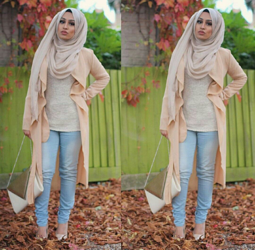 Apricot waterfall cardigan with light blue jeans - check out: Esma ...