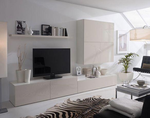 Sal n con alfombra cebra en blanco y negro fuente - Cuadros para salones minimalistas ...