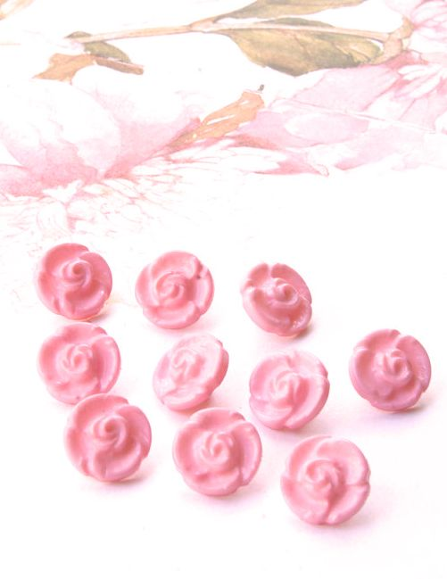 Pretty pink vintage buttons