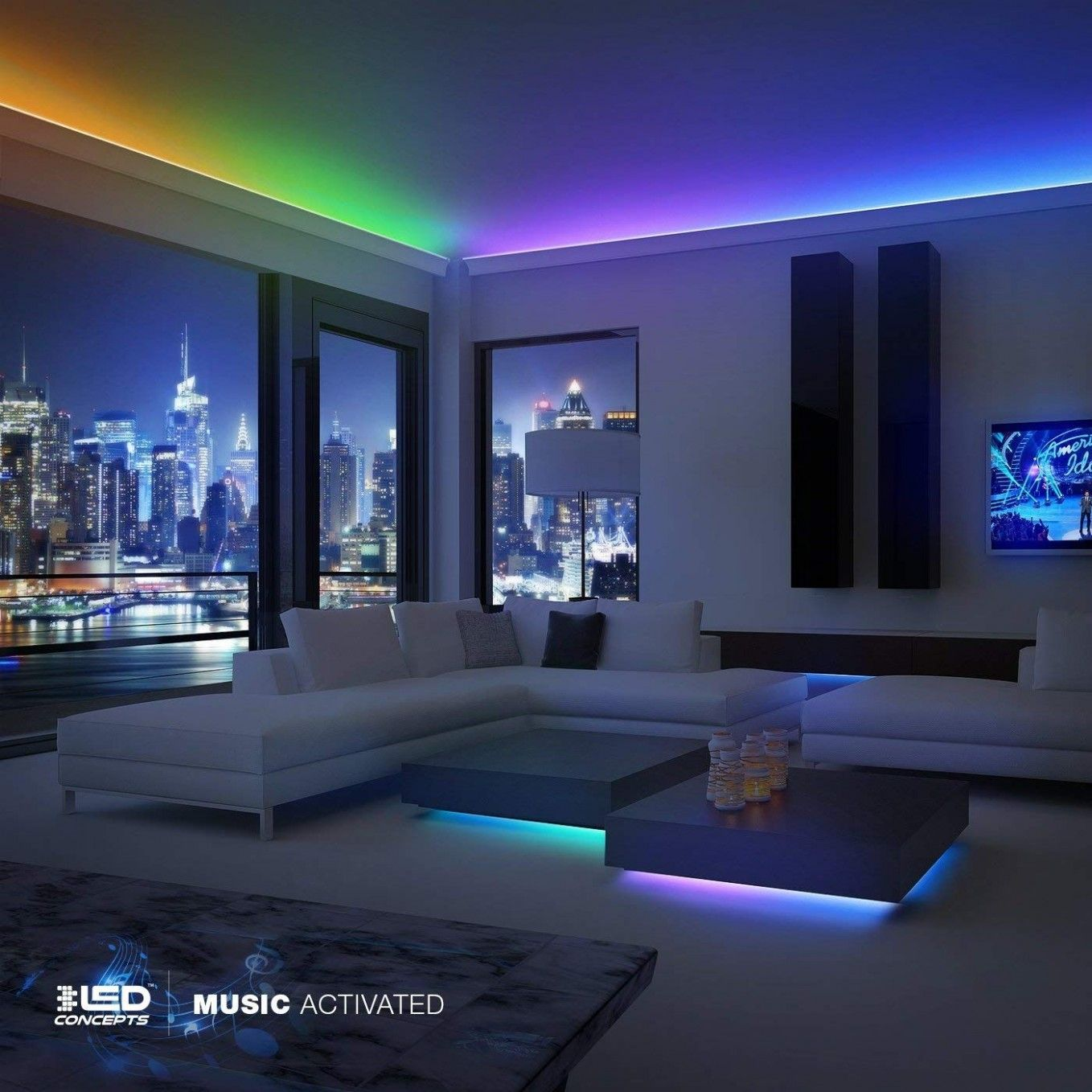 Led Light Strip For Bedroom Ceiling Strip Lighting Led Rope Lights Waterproof Led Lights