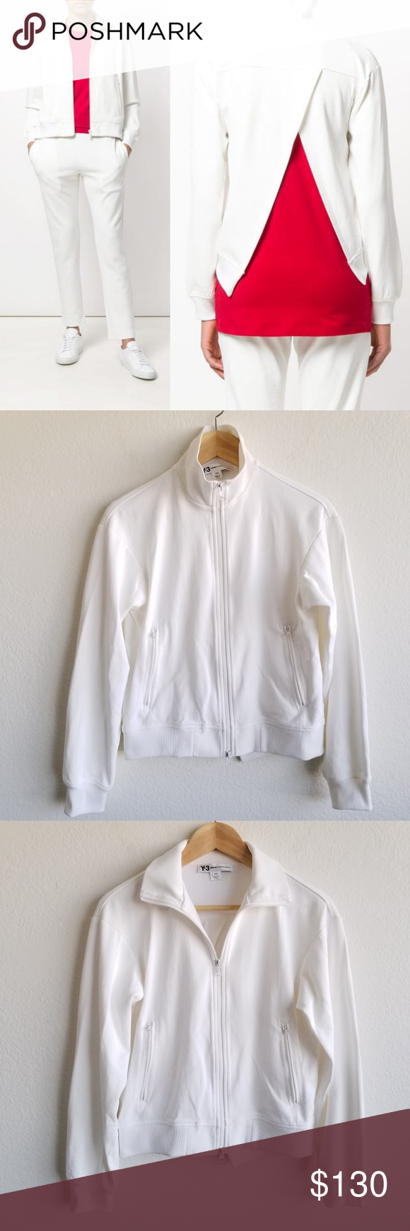 Y 3 Adidas Open Back Zipped Jacket Yohji Yamamoto Yohji Yamamoto Yamamoto Jackets