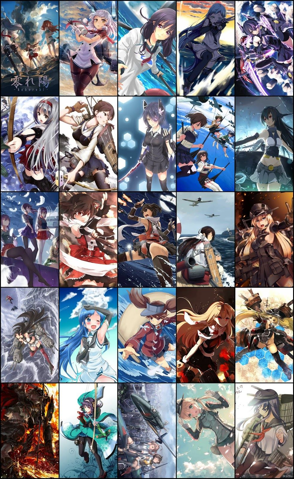 Wallpaper Pack Kantai Collection For Mobile Android Phone Part 01 Anime Art Beautiful Cool Anime Wallpapers Kantai Collection