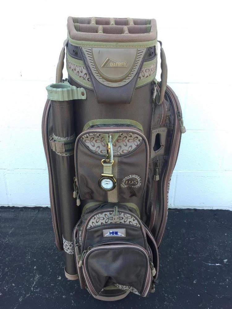 Datrek Ids 14 Way Cart Golf Bag W Putter Umbrella Well Ice Pocket Rain Cover Inc Datrekgolfcartbag Modern