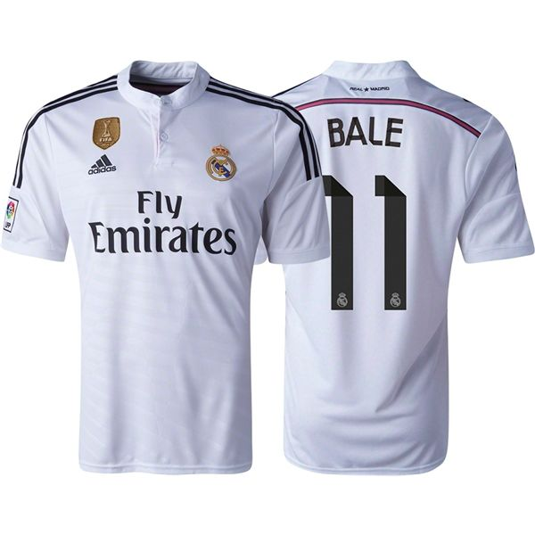 Men's 2014/15 Real Madrid Gareth Bale 11 FIFA Club World Cup Home Soccer  Jersey