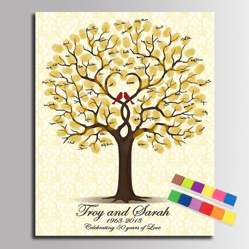 Goedkope Bruiloft Boom Vingerafdruk Handtekening Gastenboek Diy Partij Decoratie Bruiloft Canvas Diy Wedding Guest Book Diy Guest Book Wedding Guest Gifts Diy