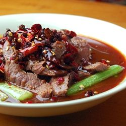 Sichuan Boiled Beef in Fiery Sauce