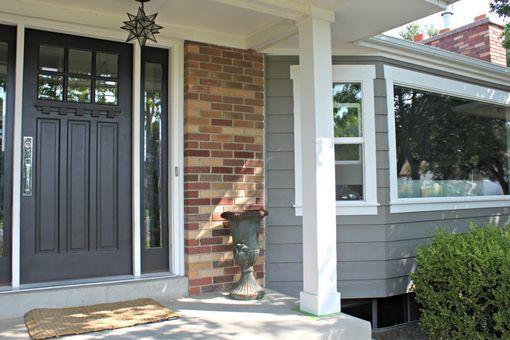 Seasonal Maintenance Ace Card Giveaway 4 Men 1 Lady Red Brick House Exterior Brick Exterior House Exterior House Colors