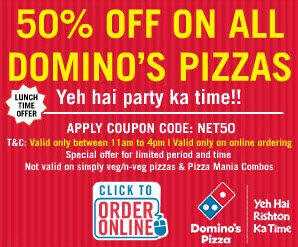coupon code for online dominos