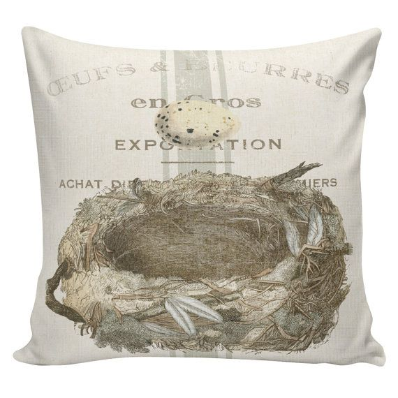 Easter Pillows Egg Nest Pillows Easter Decor Burlap Pillow Cover Amazing French Pillows Home Decor