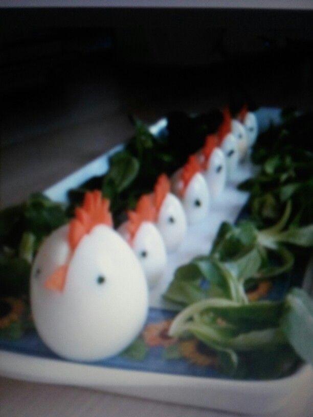 Eier kippen Leuk om te maken en op te eten bij pasen