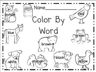 freebie from live love laugh everyday in kindergarten color by word to accompany brown bear brown bear for back to school activities - Brown Bear Coloring Pages