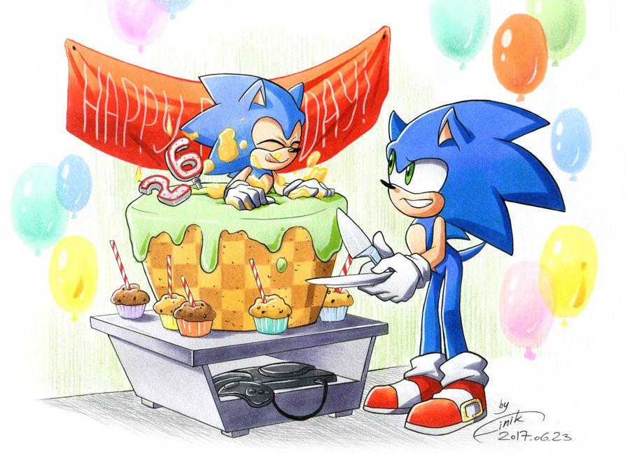 26th Wedding Anniversary Gift: Happy 26th Anniversary, Sonic! By FinikArt