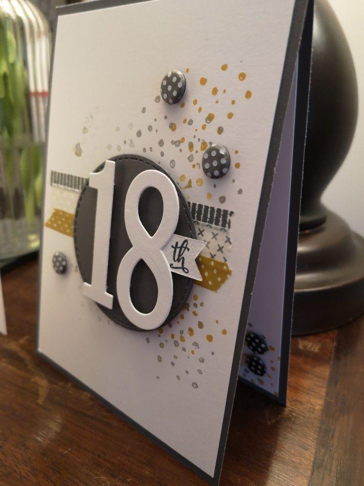 Easy 18th Birthday Card 18th Birthday Cards Card Making Birthday Birthday Cards