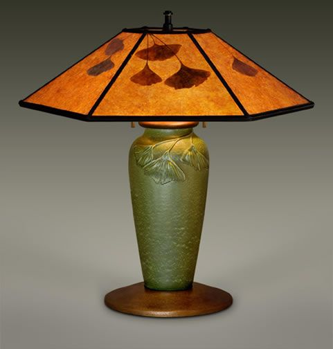 William Morris Ginko Lamp Sigh Lampes Victoriennes Faience Art Deco