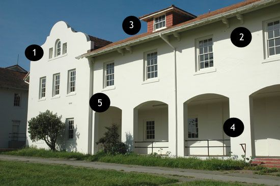 The Mission Revival Elements Of Fort Winfield Scott Presidio Building 1208 1