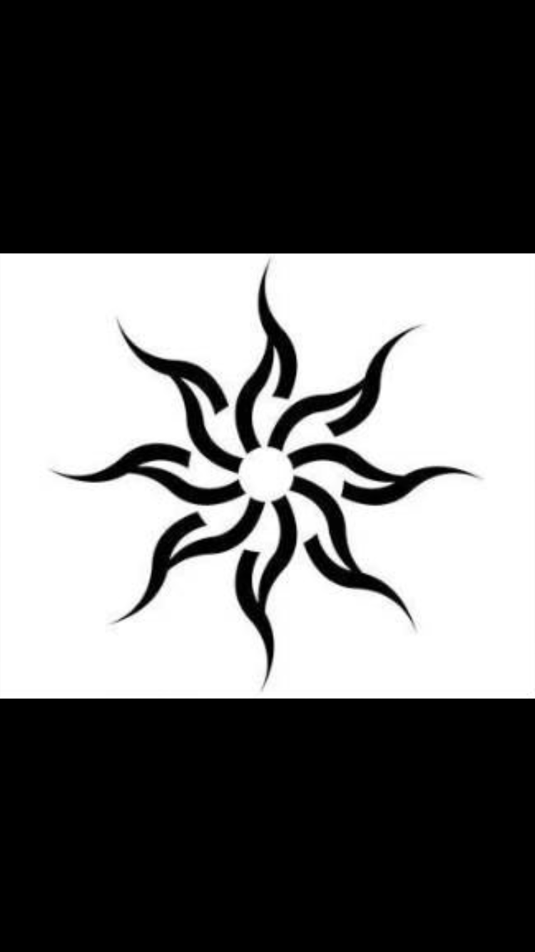 Sunrise tribal tattoo designs tribal sun - Egyptian Sun Tattoo Sun Tattoostribal