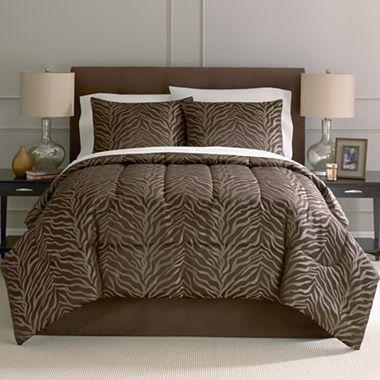 Jump 8 Pc Comforter Set Jcpenney Safari Zebra Brown Tan African