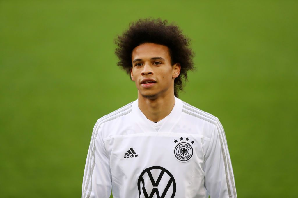 Leroy Sane Of Germany Looks During A Germany International Training Leroy Sane Germany Leroy